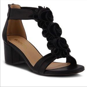 Black floral Spring Step Heels Size 10